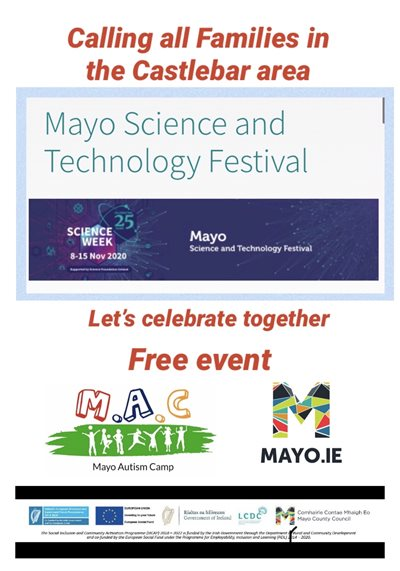 Mayo Autism Camp offer unique opportunity to start a career for a budding Scientist or Engineer of the Future!