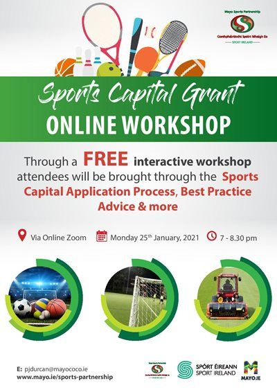 Sports Capital Grant Workshop - Recording Now Available